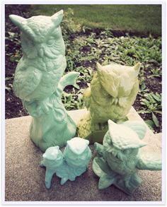Spray paint ceramic figurines found at thrift stores for unique gifts.