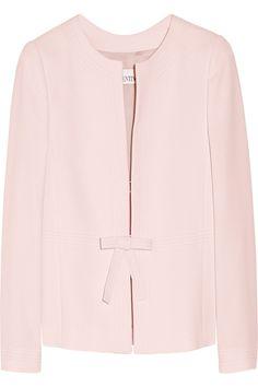 REDValentinoBow-detailed crepe jacket