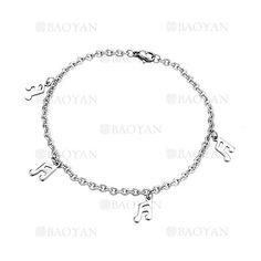 brazalete de nota musica plateado en acero inoxidable para mujer -SSBTG924913