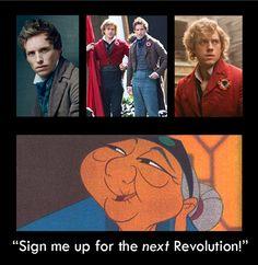 bahaha...Mulan / Les Mis mashup. This was so me when I saw this movie