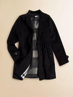 Burberry - Little Girl's Wool/Cashmere Dress Coat - Saks.com