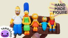Handmade The Simpsons Characters Clay Figures