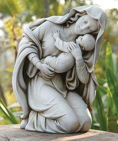 Look what I found on #zulily! Kneeling Madonna & Child Garden Statue #zulilyfinds