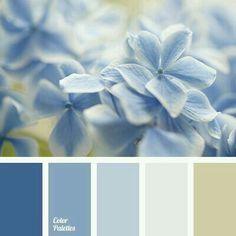 Soft blue hues...
