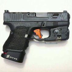That's one ugly Glock. As it should be, I guess. Weapons Guns, Guns And Ammo, Rifles, Glock Mods, Home Defense, Airsoft, Cool Guns, Coups, Tactical Gear