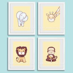 Nursery art print baby nursery decor safari nursery by rkdsign88