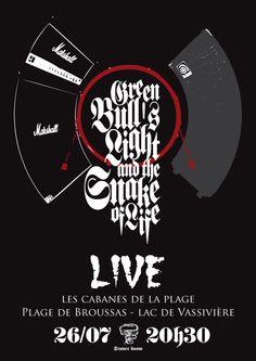 Live 26/07/2012 at Lac de Vassivières (87) France. Stoner doom on the beach !