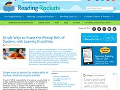 This article from Reading Rockets discusses a number of curriculum-based methods for assessing written expression and writing skills. It does a good job of explaining simple methods for assessing the five aspects of writing (fluency, content, conventions, syntax, and vocabulary) and the five-step conceptual model POWER. This was helpful to me because I have saw the POWER strategy during a practicum, but I had little understanding of how it is used for self-assessment and teacher observation.