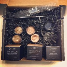 Julep has more than just nail polish and each month you get to pick which box you want. This one has cream to shimmer eyeshadow and gel eyeliner with an angled brush!! I love being a Julep Maven.