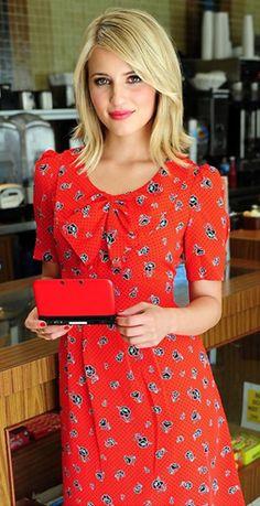 Dianna Agron in Anthropologie Dress