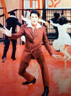 NBC-TV Special. Elvis singing the Gospel production number.