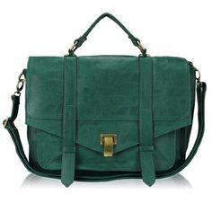 Minerva Collection Fashion Across Body / Shoulder Satchel HandbagTeal Green  Price : £30.00 http://www.minervacollection.com/Minerva-Collection-Fashion-Shoulder-Handbag-Teal/dp/B001IX4ATA