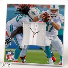Miami Dolphins Team Wall CLOCK Mirror Frame NFL NFC AFC Collection Fan Gift #IKEA #MiamiDolphins