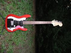 ( Present) Fender Squier I custom painted and installed Seymour Duncan pups. I'll eventually scallop the neck