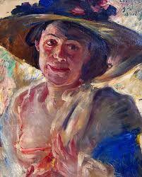 Corinth, Lovis - Femme au chapeau avec roses - Alte Nationalgalerie, Berlin