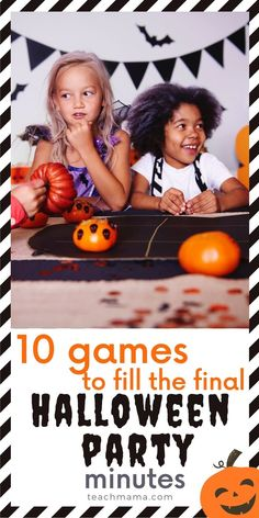 Ever get stuck during a Halloween Class Party with absolutely NOTHING to do? Have you run through your whole party plan seamlessly, then look at the clock and you STILL HAVE 10 or 15 minutes left? With 25 little faces staring back at you, HOW DO YOU FILL THAT TIME WITH FUN!? Here's your answer: 10 cool ways to fill that final--dreaded!--10 minutes of any class party.