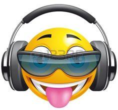 Emoticon DJ Banque d'images