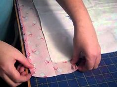 Charming Station's video for adding fabric to burp cloth
