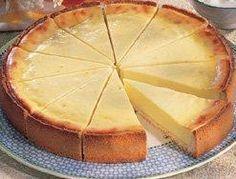 Pie de queso en el horno.