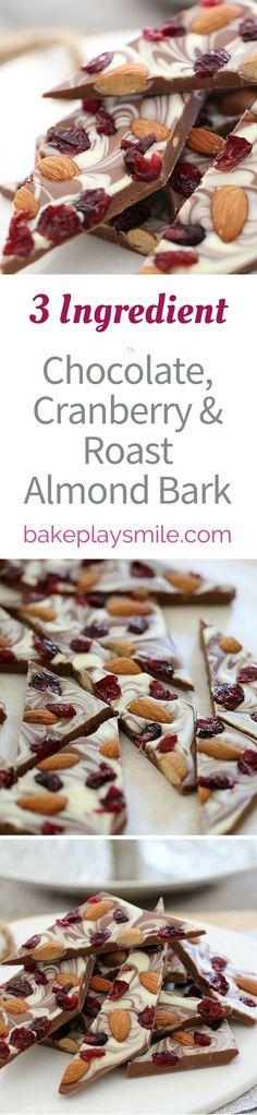 Chocolate, Cranberry & Roast Almond Bark