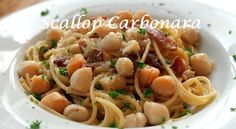 scallop carbonara - Sweet Love and Ginger