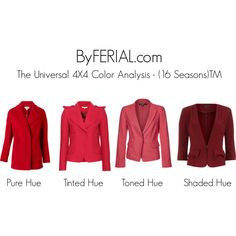 """""""The Universal 4X4 Color Analysis - (16 Seasons)TM"""" by ferialyouakim on Polyvore"""