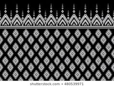 Geometric ethnic pattern embroidery design for background or wallpaper and clothing . Paisley Embroidery, Embroidery Dress, Embroidery Designs, Ethnic Patterns, Illustrations, Indian Designer Wear, Dress Wedding, Sword, Images