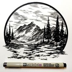 Pen and ink artwork by Derek Myers - Inspiration