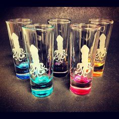 Squid Shot Glass Shooter Etched