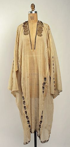 Greece, tunic, embroidered cotton, 19th century
