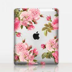 Pink Roses Transparent iPad Case http://shopcatchingrainbows.com/shop-2/ipad-cases/pink-roses-transparent-ipad-case/#x