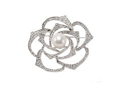 JYX Elegant 13mm White Freshwater Pearl Brooch Pin Bouquet Brooch - C412OCOI9DI - Brooches & Pins  #jewellrix #Brooches #Pins #jewelry #fashionstyle