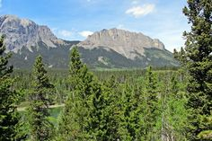 Twin Lakes are tiny gems in the Yamnuska Natural Area of the Bow Valley west of Calgary, Alberta, Canada.