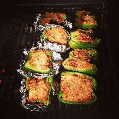 Grilled Stuffed Peppers - a recipe that is great for cooking stuffed peppers on the BBQ grill