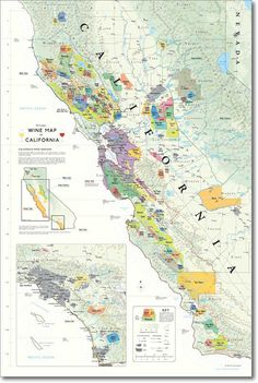 De Long California wine map