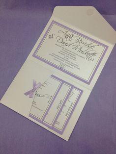 Chloe lilac purple vintage wedding invitation www.whyteweddings-uk.com