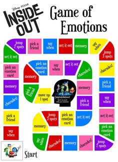 Free Printable Inside Out Emotions Game! Image only, no link.