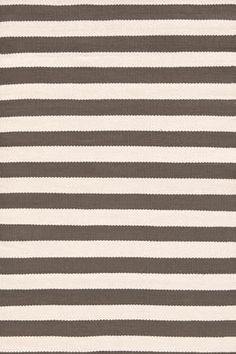 Dash and Albert indoor/outdoor rug  Trimaran Stripe Charcoal Ivory