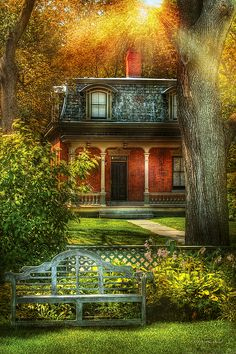Image detail for -. Mike Savad - Autumn - House - The Estates Fine Art Prints and Posters Pictures To Paint, Cool Pictures, Beautiful Pictures, Cottage Art, Cozy Cottage, Lakeside Cottage, Cabins And Cottages, Small Cottages, Second Empire