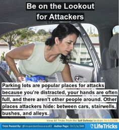 Self Defense - Be on the Lookout for Attackers