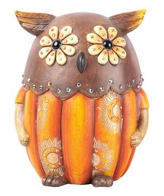 Take a look at this Harvest Owl Figurine by Transpac Imports on #zulily today!