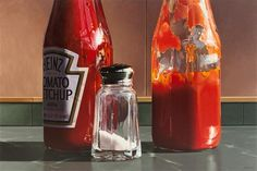 Ralph Goings, (American, b. 1928), Double Ketchup, 1996-97 | Modern and Contemporary Art auction | September 30, 2016 in Chicago