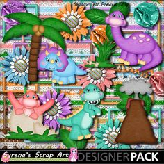 Dinosaurs ! Digital Scrapbooking kit