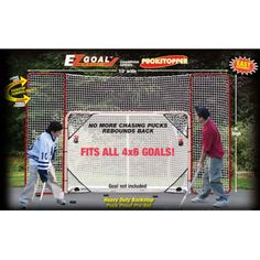 EZ Goal 10 x 6 ft. Hockey Backstop with Targets - 65121