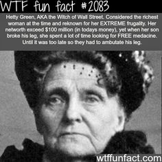 The cheapest person in the world? -WTF fun facts