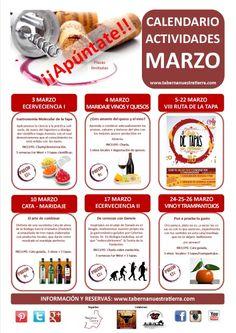 Calendario actividades marzo 2015