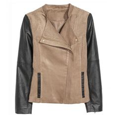Faux Suede Biker Jacket With Contrast Leatherette Sleeves (€29) ❤ liked on Polyvore featuring outerwear, jackets, stylemoi, sleeve jacket, pleather biker jacket, beige moto jacket, leatherette jacket and beige jacket