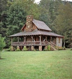 My Dream House.Log Cabin in the Mountains.that porch! The Animals, Home Designer, Log Cabin Homes, Log Cabins, Rustic Cabins, Rustic Homes, Barn Homes, Little Cabin, Southern Homes