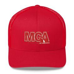 MCA Red Logo Trucker Cap