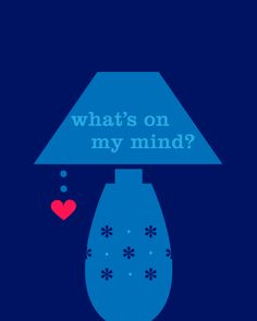 What's on my mind? love cute light heart animated gif lamp